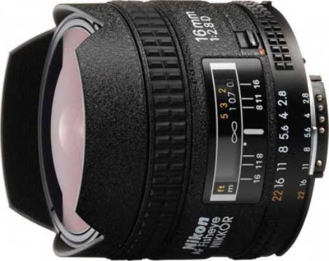 لنز نیکون AF Fisheye-NIKKOR 16mm