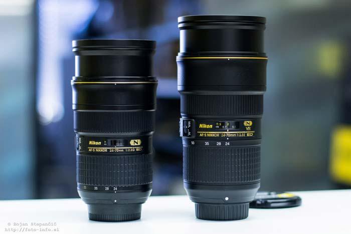 مقایسه لنز نیکون AF-S NIKKOR 24-70mm