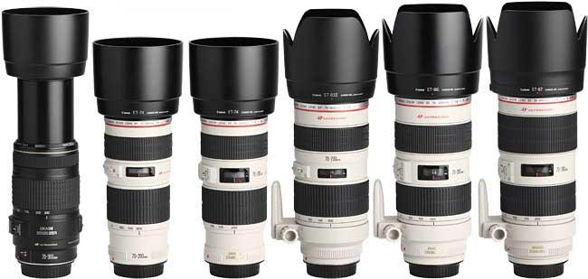 مقایسه لنز کانن EF 70-200mm f/2.8L USM