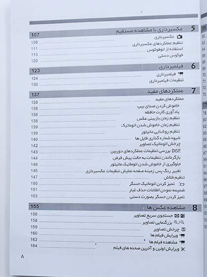 کتاب راهنمای فارسی دوربین EOS 550D و EOS 600D کانن