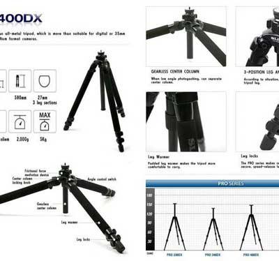 سه پایه اسلیک مدل Slik Pro 400 DX