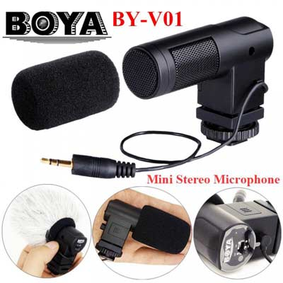 میکروفون مینی گان بویا مدل Boya BY-V01