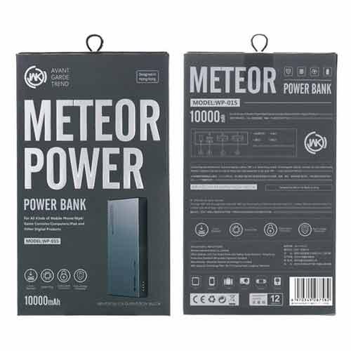 پاوربانک دبلیو کی WK WP-015 Meteor ظرفیت 10000 میلی آمپر