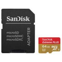 کارت حافظه سندیسک مدل SanDisk 64GB Extreme Plus UHS-I microSDXC