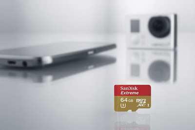 کارت حافظه سندیسک مدل SanDisk 64GB Extreme UHS-I microSDHC