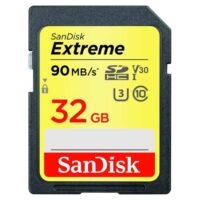 کارت حافظه سندیسک مدل SanDisk 32GB Extreme SDHC UHS-I U3