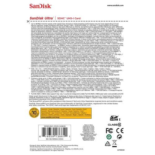 کارت حافظه سندیسک مدل SanDisk 32GB Ultra SDHC UHS-I