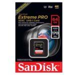 کارت حافظه سندیسک مدل SanDisk 64GB Extreme SDXC UHS-I U3