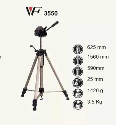 سه پایه ویفنگ مدل Weifeng WT-3550