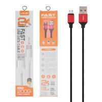 کابل تبدیل USB به MicroUSB الدینیو مدل LS-392 طول 2 متر