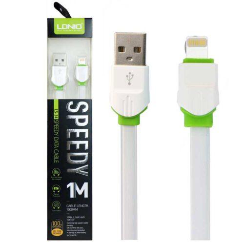 کابل تبدیل USB به Lightning الدینیو مدل LS-34 طول 1 متر