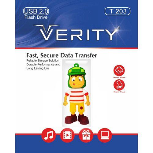 فلش مموری 8GB وریتی Verity T203 Flash Memory USB 2.0