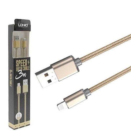 کابل تبدیل USB به Lightning الدینیو مدل LS31 طول 3 متر