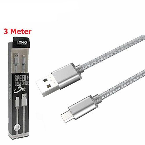 کابل تبدیل USB به microUSB الدینیو مدل LS31 طول 3 متر