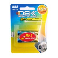 باتری نیم قلمی دی بی کی DBK LR03 بسته 2 عددی