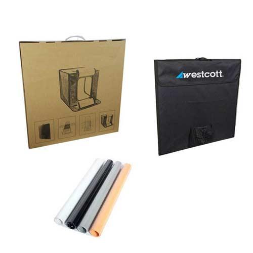 لایت باکس وسکات 40×40 دیمردار تک رنگ Westcott LED440W