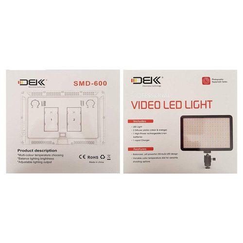 نور ثابت ال ای دی DBK Video Light SMD 600 LED