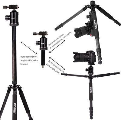 سه پایه مونوپاد دار زومی Zomei Z818 Camera Tripod
