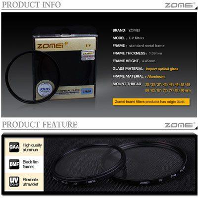 فیلتر لنز یووی زومی Zomei UV 40.5mm Filter