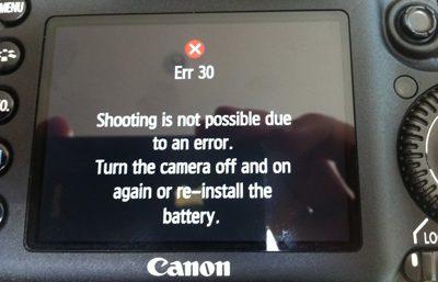 بررسی پیغام خطا در دوربین های عکاسی کانن و رفع آنها