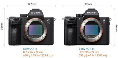 مقایسه و بررسی دوربین سونی A7R III و A7III