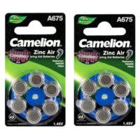 باتری سمعک سکه ای کملیون مدل Camelion A675 Hearing Aid بسته 12 عددی
