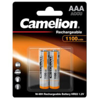 باتری نیم قلمی قابل شارژ کملیون مدل Camelion ACCU-HR03 بسته 2 عددی