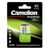 باتری کتابی قابل شارژ 200 میلی آمپر کملیون مدل Camelion ALWAYS READY 200mAh 9V