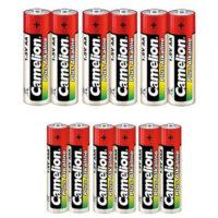 باتری قلمی و نیم قلمی کملیون مدل Camelion Plus Alkaline بسته 12 عددی