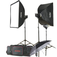 کیت فلاش 3 شاخه استودیویی گودگس Godox MS200-F 3 Monolight Kit