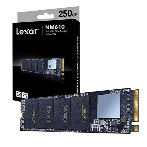 هارد اینترنال 250 گیگابایت لکسار Lexar NM610 M.2 SSD