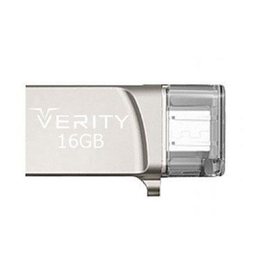 فلش مموری 16GB وریتی مدل Verity O502 OTG MicroUSB