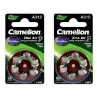 باتری سمعک سکه ای کملیون مدل Camelion A312 Hearing Aid بسته 12 عددی